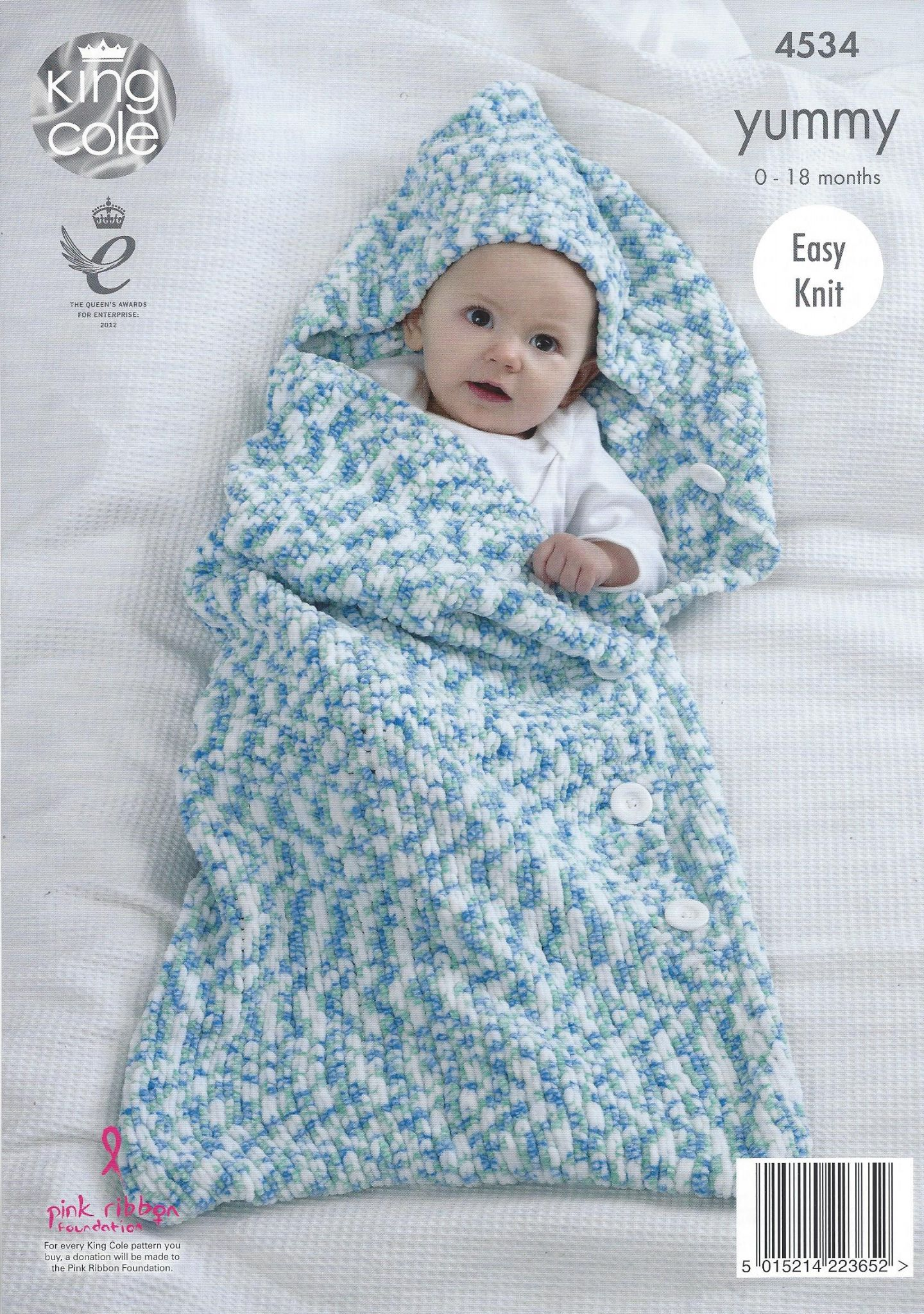 King Cole Yummy - 4534 Cocoon & Blanket Knitting Pattern